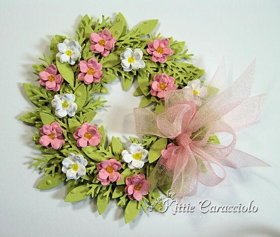 Wreath and mini wreath tutorial kittie kraft supply list and preparation mightylinksfo