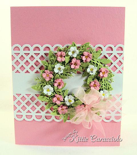 KC Martha Stewart Wreath  Pink and White