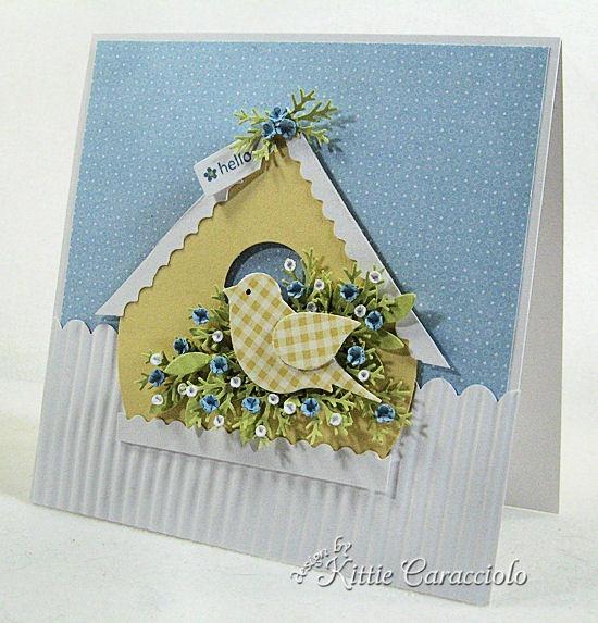 Скрап открытки с птичкой