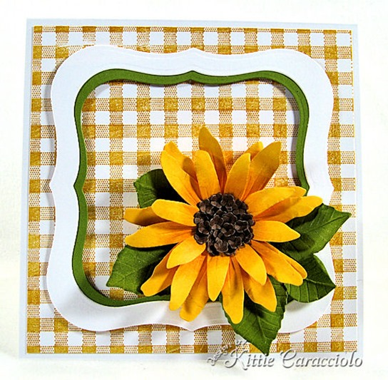 KC Sizzix Flower Sunflower 1 center