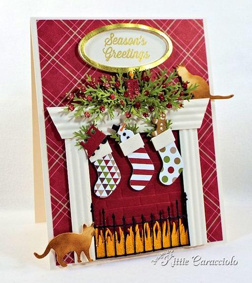 KC Memory Box Cheerful Stockings 1 left