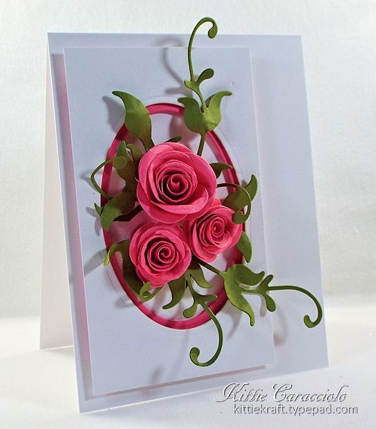 Framed Rolled Roses Kittie Kraft