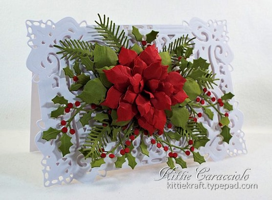 KC Creative Expressions Festive Collection Classic Poinsettia 1 left