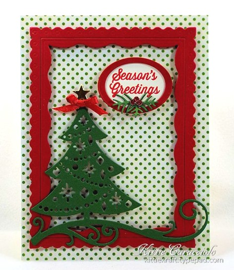 KC Impression Obsession Cutout Christmas Tree 2 center