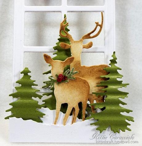 KC Impression Obsession Door Window 3 deer
