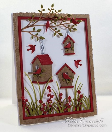 KC Memory Box Birdhouse Village 1 left