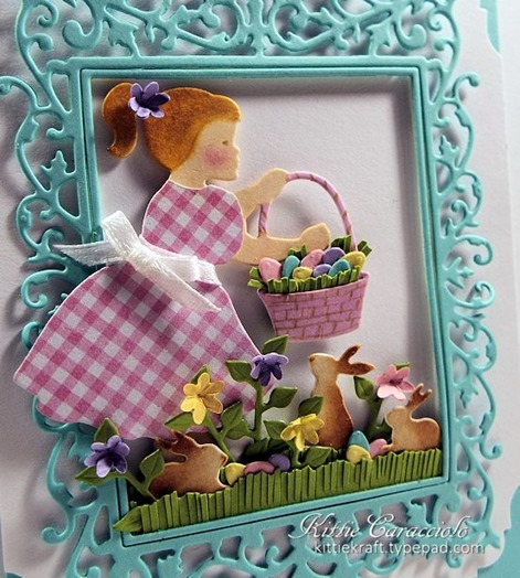 KC Impression Obsession Girl with Easter BAsket 1 close