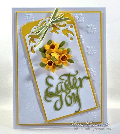 KC Elizabeth Craft Susan Garden Patch 1 3 8 inch and Mini Daffodils 1 center