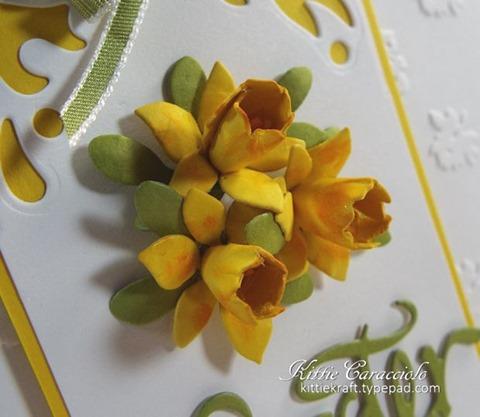KC Elizabeth Craft Susan Garden Patch 1 3 8 inch and Mini Daffodils 1 close