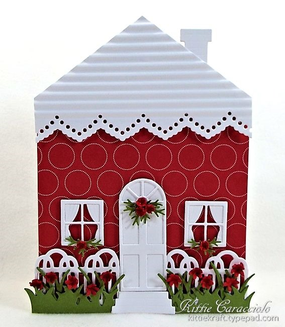 House Shaped Card Kittie Kraft
