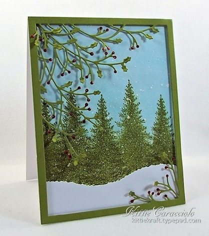KC Memory Box Jolly Holly Frame 1 left