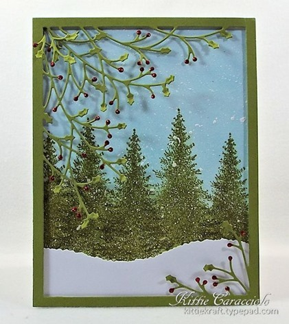 KC Memory Box Jolly Holly Frame 1 center