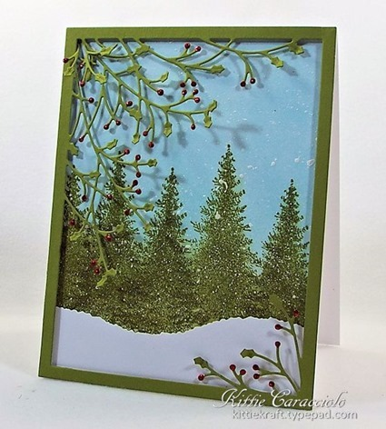 KC Memory Box Jolly Holly Frame 1 right