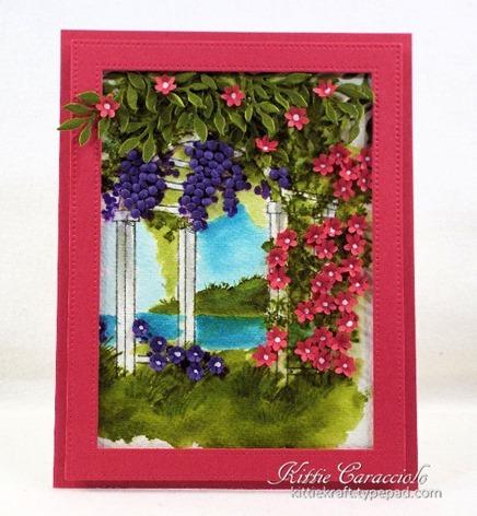 KC Art Impressions Watercolor Arbor 1 center