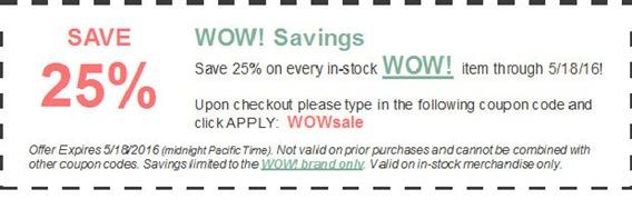 Ellen WOW Sale Coupon