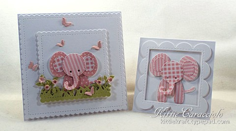 KC Impression Obsession Patchwork elephant 1 pair