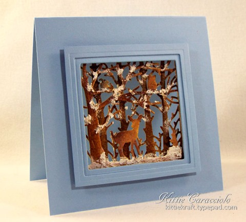 KC Penny Black Woodland Scene 1 left