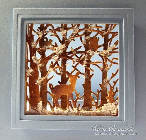 KC Penny Black Woodland Scene 1 close