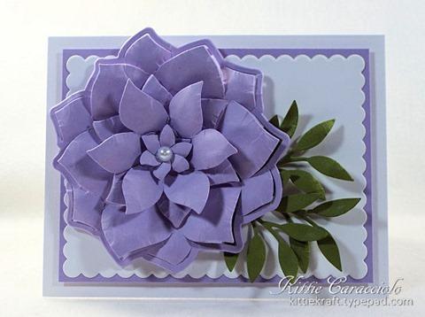 KC Hero Arts Paper Layering Swirl Flower 1 center