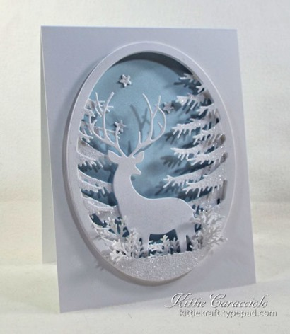 KC Memory Box Grand Stag Oval Frame 1 left