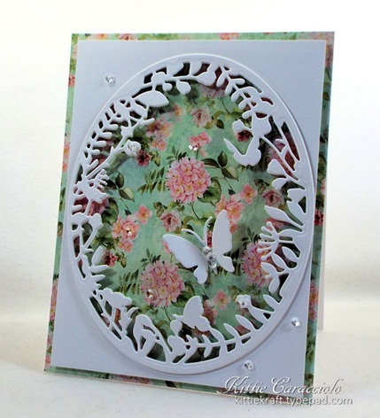 KC Hero Arts Floral Border with Frame 3 right