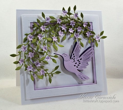 KC Hero Arts Paper Layering Hummingbird Pair 1 left
