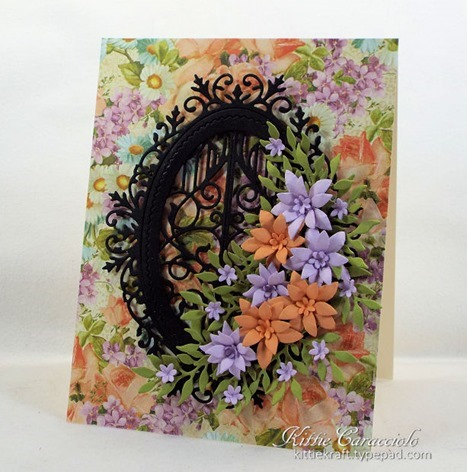 Impression Obsession Ornate Oval Frame craft die