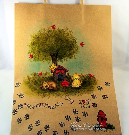 KC Stampin Up[ Bow Wow Bag 1