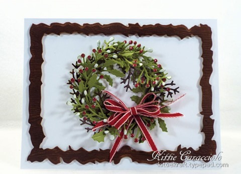 KC Penny Black Layered Christmas Wreath 1 center