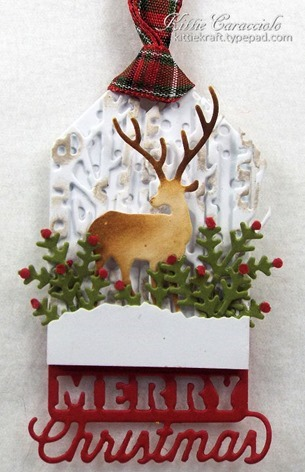 KC Impression Obsession Christmas Tags 4 Deer