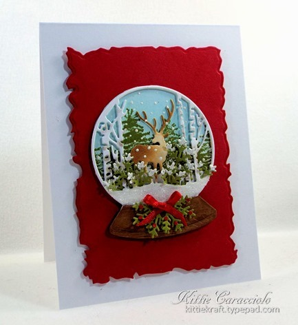 KC Impression Obsession Deer Snowglobe 1 left