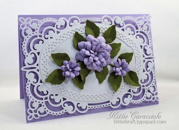making handmade paper flowers with die cuts is so fun
