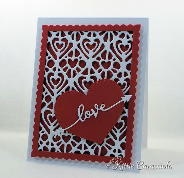 A Die Cut Heart Valentine Card is easy and fast