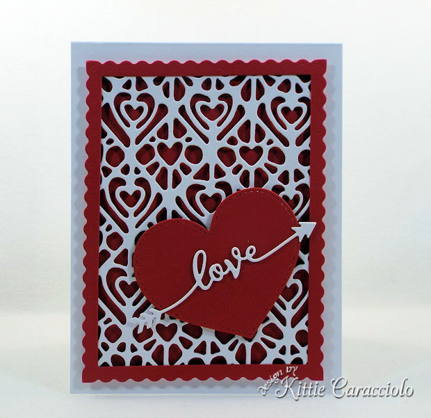 Die Cut Heart Valentine Card is so much fun to make