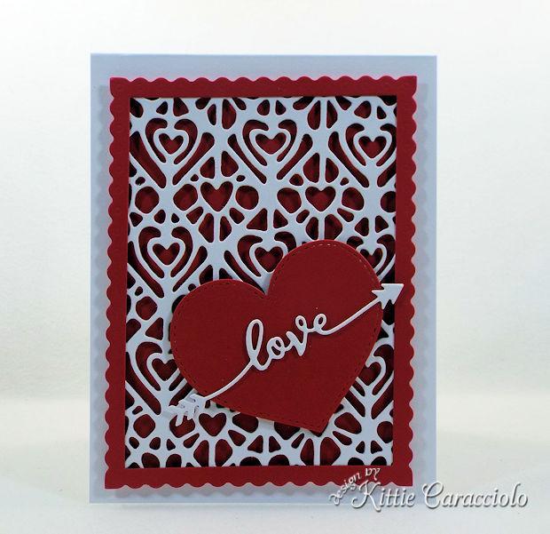 -Valentine-Steel Die HEART FLOURISH DIE-Impression Obsession//IO Stamps DIE126-U
