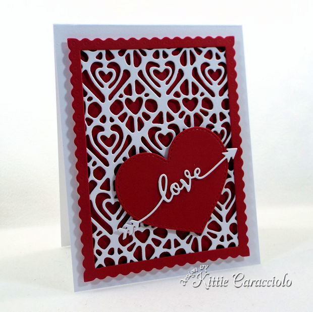 Die Cut Heart Valentine Card