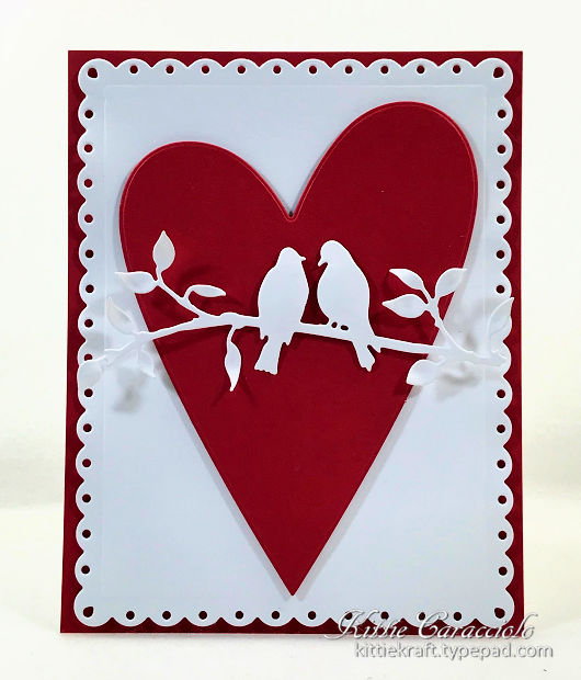 Die Cut Valentine Card