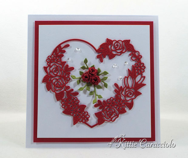 Floral Heart Frame Valentine card is fun to make