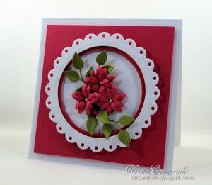Eyelet Framed Die Cut Flower Card