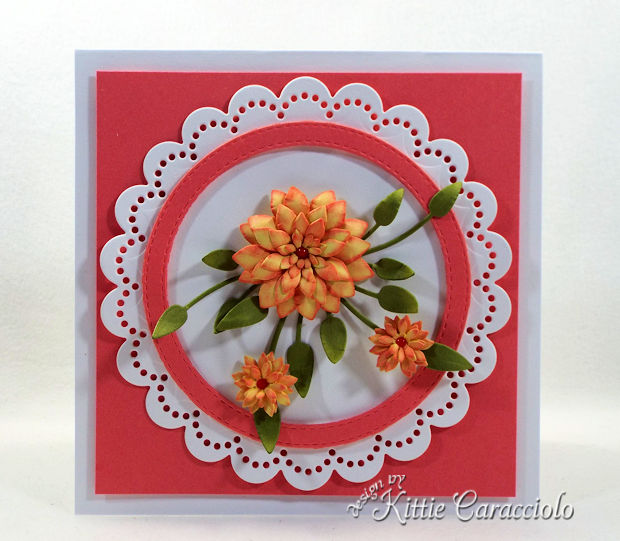It's so fun and easy to make handmade die cut paper flowers