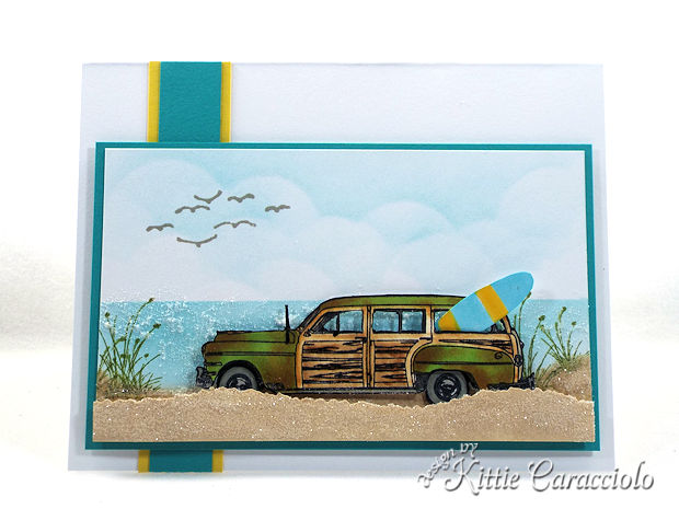 Making a Vintage Woody Car Beach Scene is so much fun