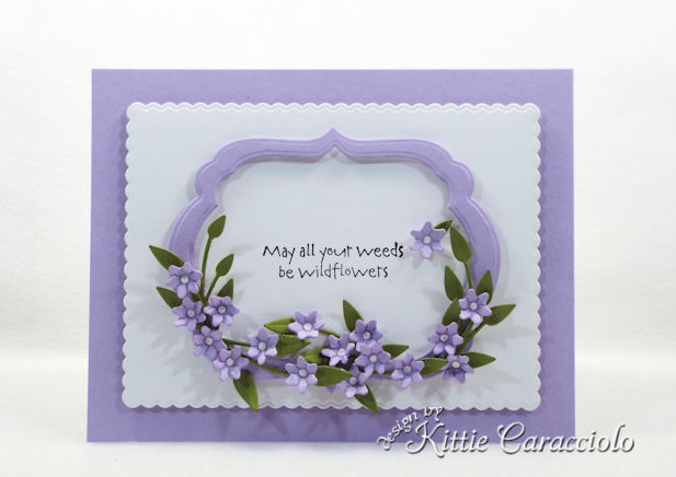 Making a tiny handmade paper flowers and frame card is so easy.