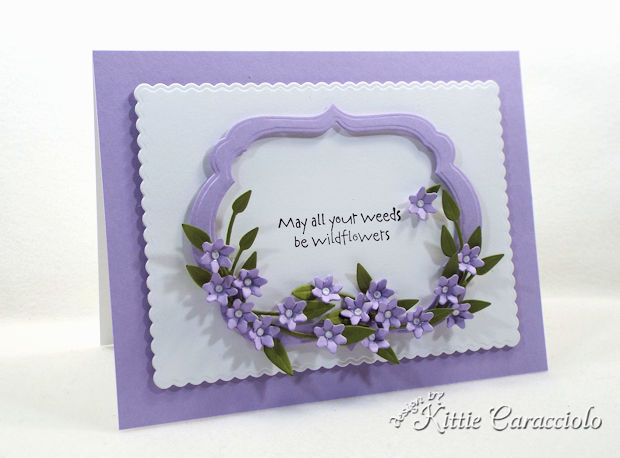 Making a tiny handmade paper flowers and frame card is so fun and easy.