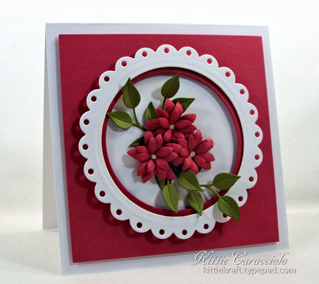 Making framed die cut flowers is really easy