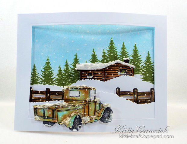 Would like to learn to make a Vintage Truck Snow Scene