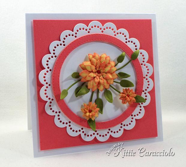 making handmade die cut paper flowers is so fun