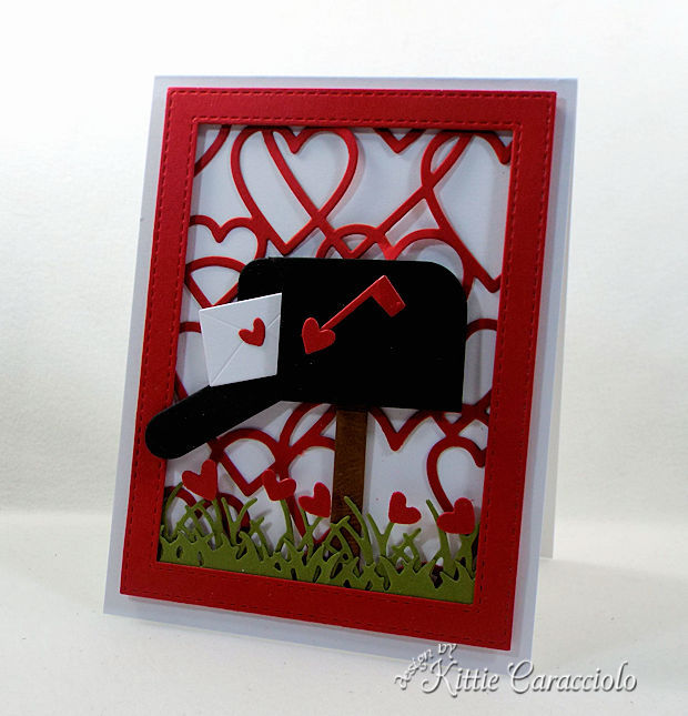 would you like to learn to make a Heart Framed Mailbox Valentine Scene card