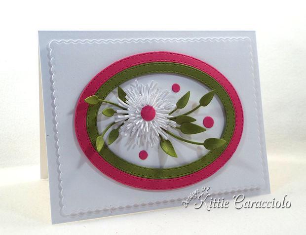 Clean and Simple Die Cut Flower Card