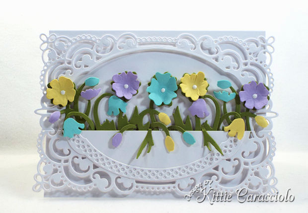 Color layering with die cuts to create dimensional flowers is easy and adds so much interest to a project.
