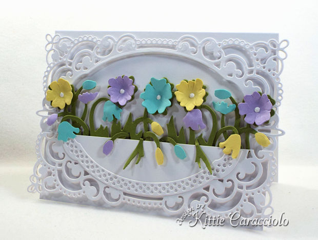 Color layering with die cuts to create dimensional flowers is fun and adds so much interest to a project.